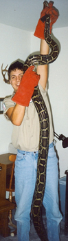 Brad with a HUGE Snake